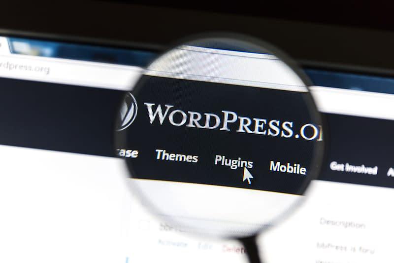 Ostersund, Sweden - August 9, 2015: Close up of WordPress websit