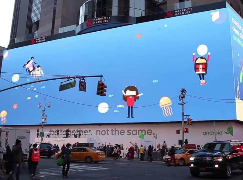 Gigantic Google Advertisement in Times Square