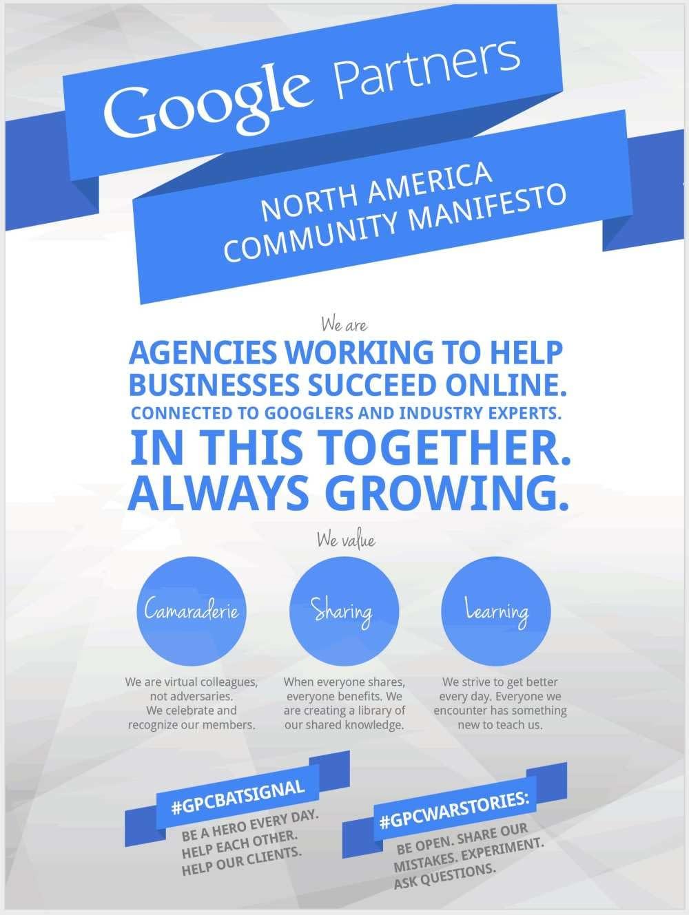 Google Partners Manifesto!