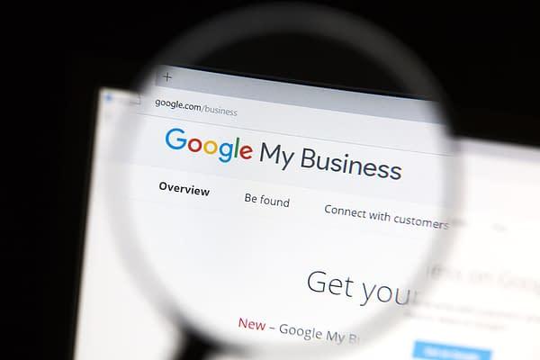 Ostersund, Sweden - June 10, 2016  Closeup of Google My Business